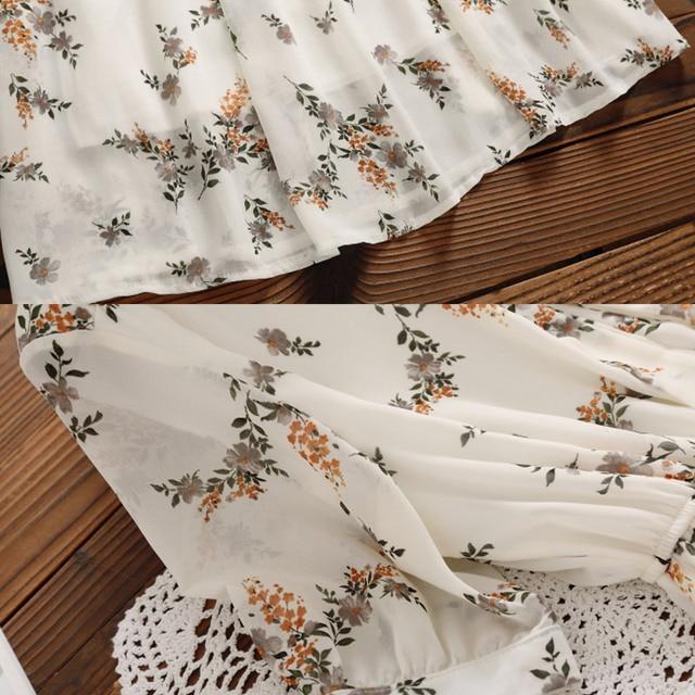 Mori Girl Sweet Dress 2020 New Summer Women Floral Print Long Chiffon Dress Female Short Sleeve Pleated Vestidos Korean Fashion 10