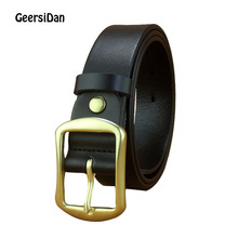 GEERSIDAN  New Fashion Designer Belt for Men pin Buckle Luxury genuine Leather Men Belt vintage High Quality Business Male Belts 2018 new large size genuine leather men belts fashion long male designers high quality 140cm 150cm 160cm jeans pin buckle belt