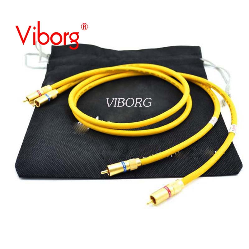 Free shipping pair Viborg The D-102 III HYBRID HiFi Audio interconnect cable with Van Den Hul RCA Plug кабели межблочные аудио van den hul sub single rca 15 0m