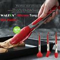 WALFOS Food Grade 100% Silicone food tong Kitchen Tongs utensil Cooking Tong clip Clamp accessories Salad Serving BBQ tools