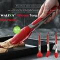 WALFOS de calidad alimentaria 100% alimentos de silicona tong cocina pinzas utensilio de cocina Tong clip abrazadera accesorios ensalada de herramientas de barbacoa