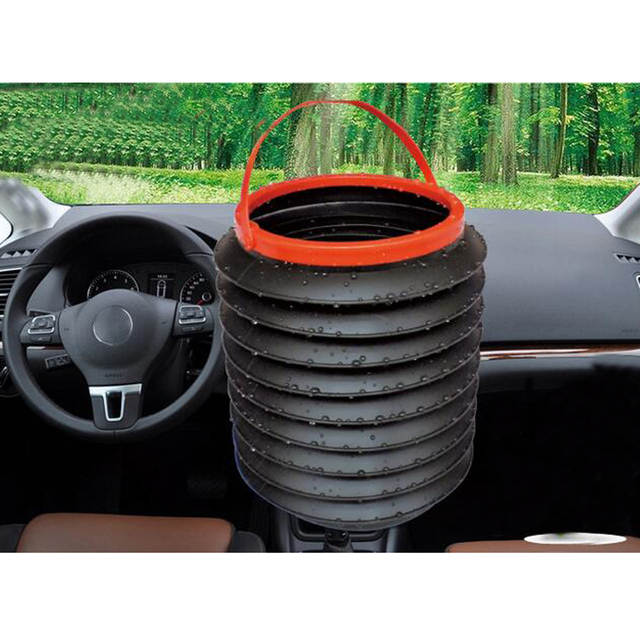 Outdoor Car Storage >> 2 8l Black Car Storage Portable Plastic Foldable Water Bucket