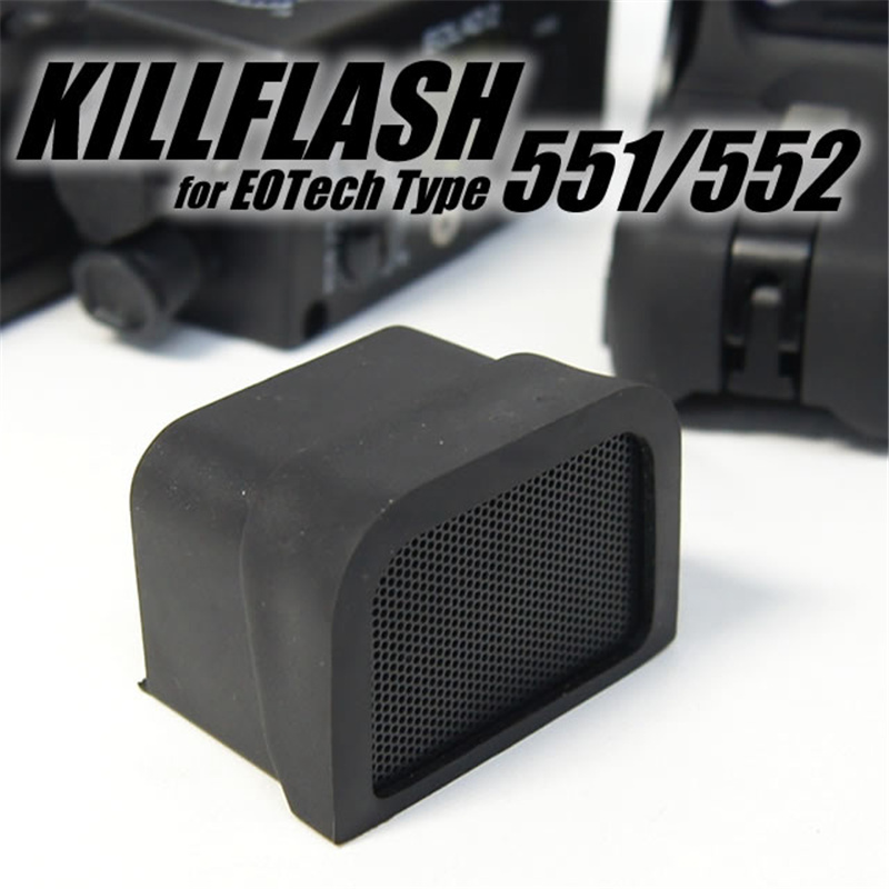 Abay Red Dot Killflash Scope Capa Cap Lens Protector Caça Acessórios Tactical Airsoft Kill Flash 551 552 553 556 557 558
