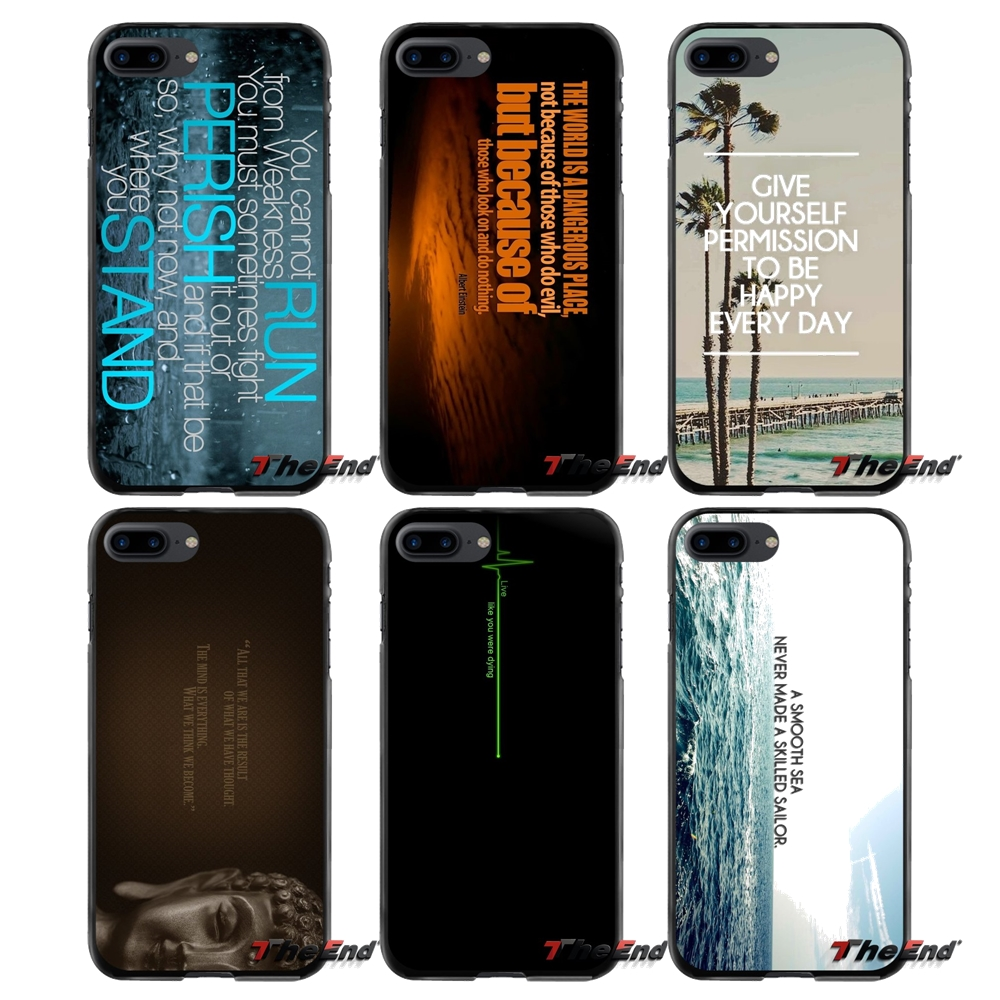 Motivational Thoughts Accessories Phone Shell Covers For Apple iPhone 4 4S 5 5S 5C SE 6 6S 7 8 Plus X iPod Touch 4 5 6