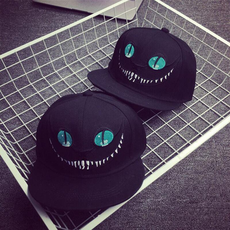2019 Alice In Wonderland Cheshire Cat Cartoon Snapback Hats Bugs Bunny Sylvester   Cap   For Men Women Snap Back   Baseball     Cap