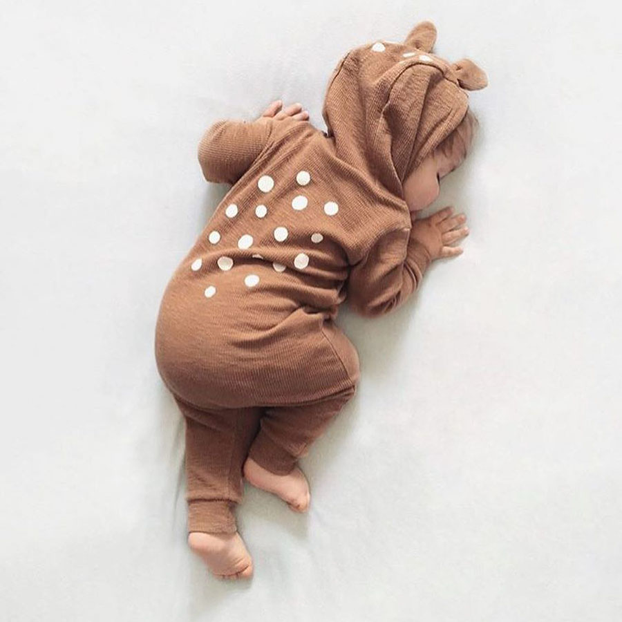 Leuke Animal Bear katoen pasgeboren lange mouw Baby rompertjes terug - Babykleding - Foto 4