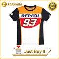 2016 100% Cotton 93 Marc Marquez Motogp Shirt REPSOL motorcross Motorbike T-Shirt