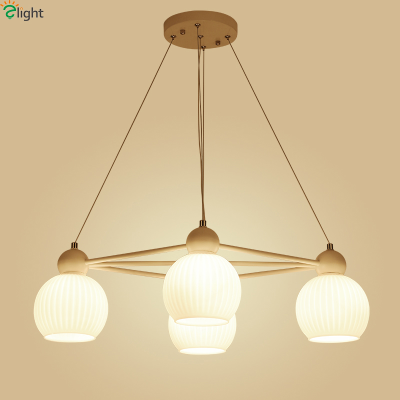 Nordic Simple Cord E27 Led Pendant Chandeliers Lustre Milk Glass Dining Room Led Chandelier Lighting Bedroom Led Hanging Lights modern led crystal chandelier lights living room bedroom lamps cristal lustre chandeliers lighting pendant hanging wpl222