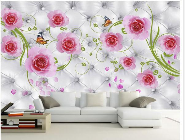 Wall sticker elegant soft pink flowers bag wallpaper mural wall sticker elegant soft pink flowers bag wallpaper mural wallpapers 3d wallpaper personalized murals wallpaer 20152328 mightylinksfo