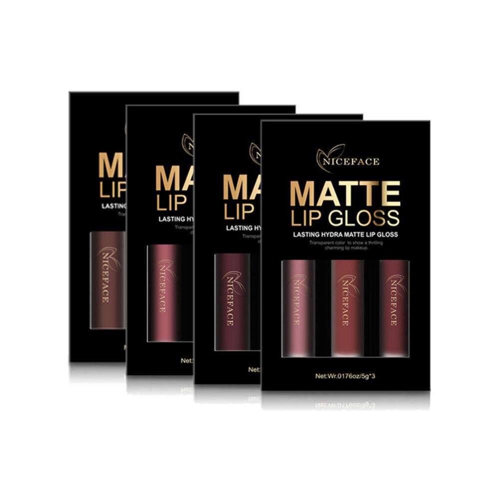 Gloss labial líquido batom beleza cosméticos Feature4 : Nude Lipgloss Lipstick