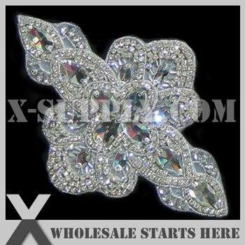 (12 teile/los) Brautstrassapplikationen Perlen Patch für Eigene Hochzeitskleid Dekoration, X1-RAT2159