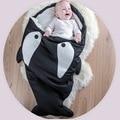 Alta Calidad Linda de la Historieta Tiburón bolsa de Dormir Bastante ropa de Cama de Invierno Cálidos Sacos de Dormir de Algodón Suave
