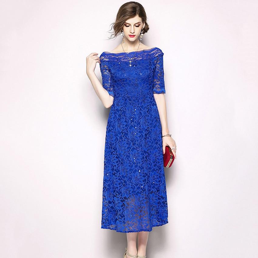 Aliexpress.com : Buy 2018 Royal Blue Women Fashion Summer ...