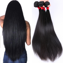 Queen Like Hair Products 1 Bundle / Piece 100% Human Hair Weave Non Remy Jet Svart Färg Malaysian Straight Hair Bundles