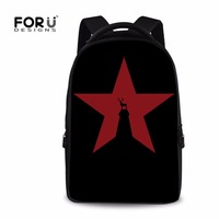FORUDESIGNS Men Star Print Schoolbag Large Laptop Backpack Knapsack For School Teenage Skull High Quality Mochila