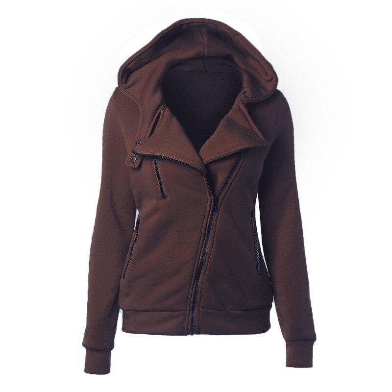 CALOFE 19 Autumn Winter Jacket Women Coat Casual Girls Basic Jackets Zipper Cardigan Sleeveless Jacket Female Coats Plus Size 11
