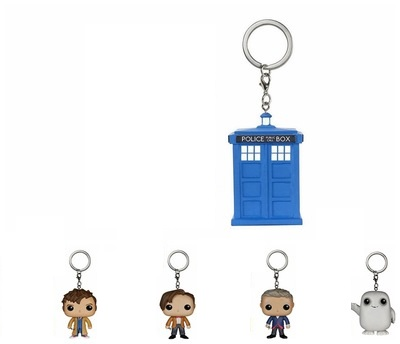 Doctor Who Dr.Who DW Doctors Adipose Tardis Vinyl Action Figure Keyching With Box