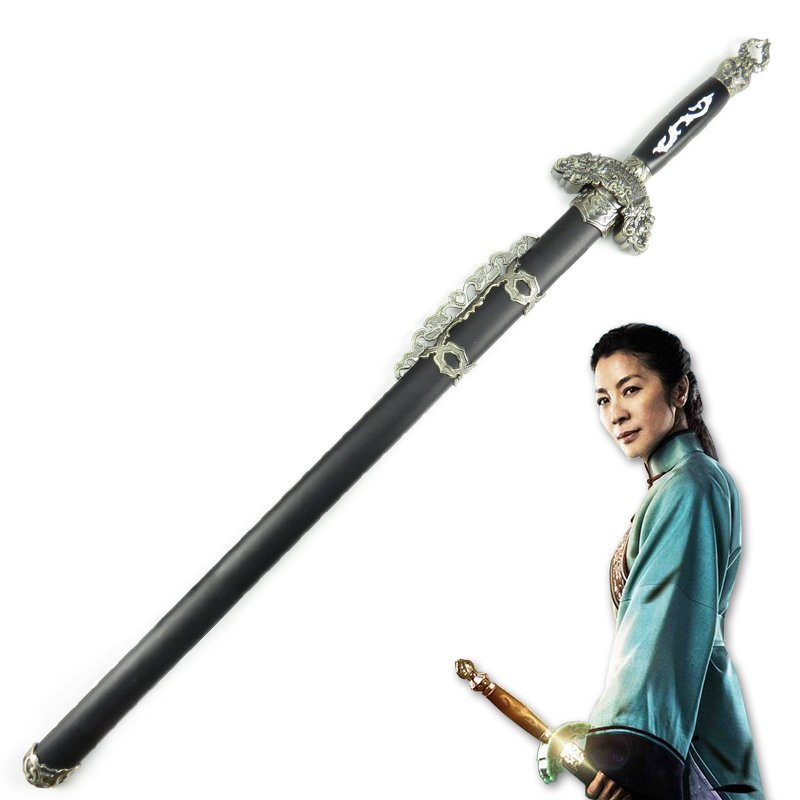 Movie CROUCHING TIGER HIDDEN DRAGON GREEN DESTINY Cosplay Wooden Sword Cosplay Prop image