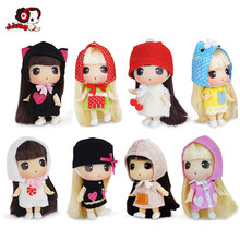 Ddung Doll 9cm Genuine Korean Change Girl Princess Dolls BJD Mini Baby A Birthday Present Key Pendants Collection Decoration(China)