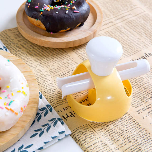 US $4 48 10% OFF Food Grade ABS Plastic DIY Donuts Maker Mold Donut Maker  Cutter Mold with Dip Piper for Kitchen Baking Tools pasteleria-in Baking &
