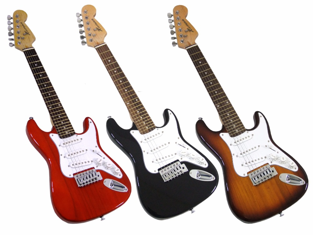 China OEM firehawk electric guitar, 36 3/4 mini small electric guitar A variety of colors to choose, ems free shipping. china oem firehawk sg electric guitar the left hand guitar red guitar you can change the color ems free shipping