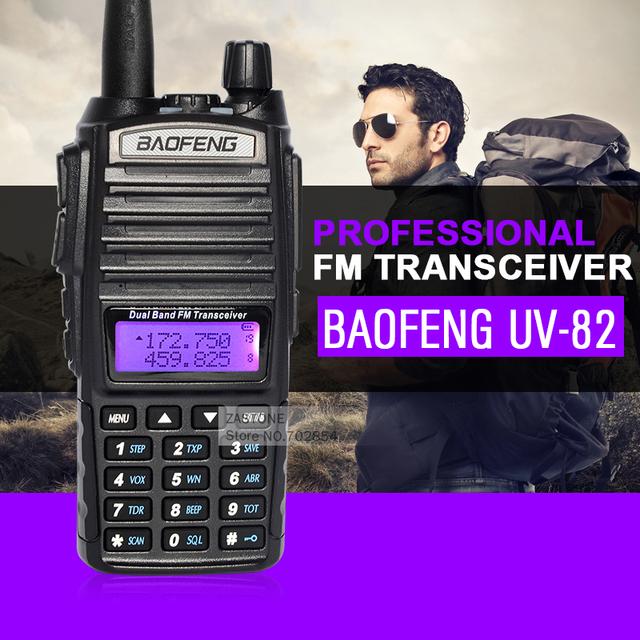 Baofeng uv-82 dual band walkie talkie 136-174 e 400-520 mhz vhf uhf estação de rádio amador rádio amador rádio portátil walkie talkie