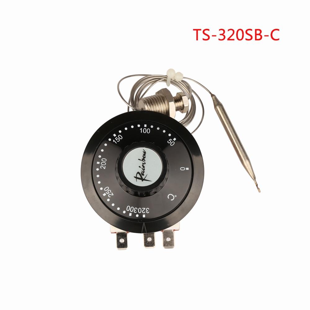Collectie Hier Ts-320sb-c Korea Rainbow Capillaire Thermostaat Met Schroef 50-320 Celsius Drie Voeten Temperen Switch 3 Pin Temperatuur Controller Een Onmisbare Soevereine Remedie Voor Thuis