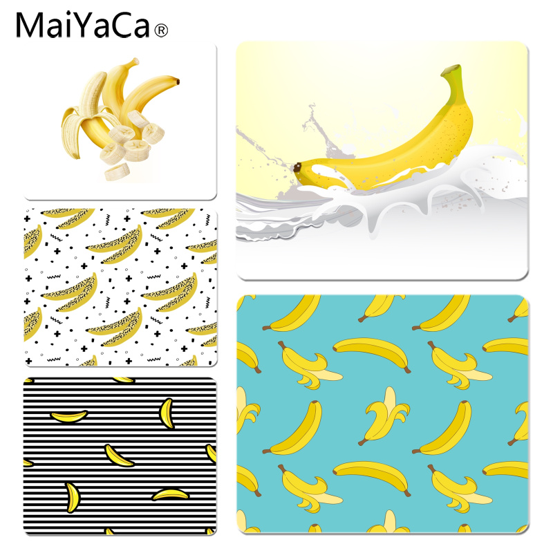 MaiYaCa Cool New Banana and Milk mouse pad gamer play mats Size for 18x22cm 25x29cm Rubber Mousemats