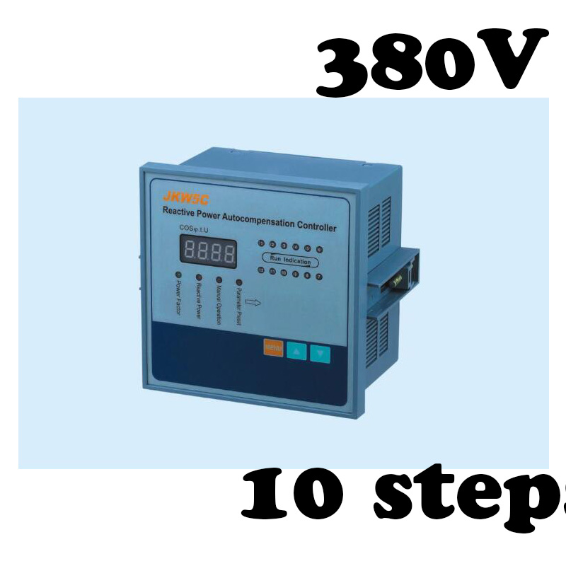 JKW5C-10 power factor regulator compensation controller for power factor capacitor 10steps 380v PRCF jkw5c 12 power factor regulator compensation controller for power factor capacitor 12steps 380v