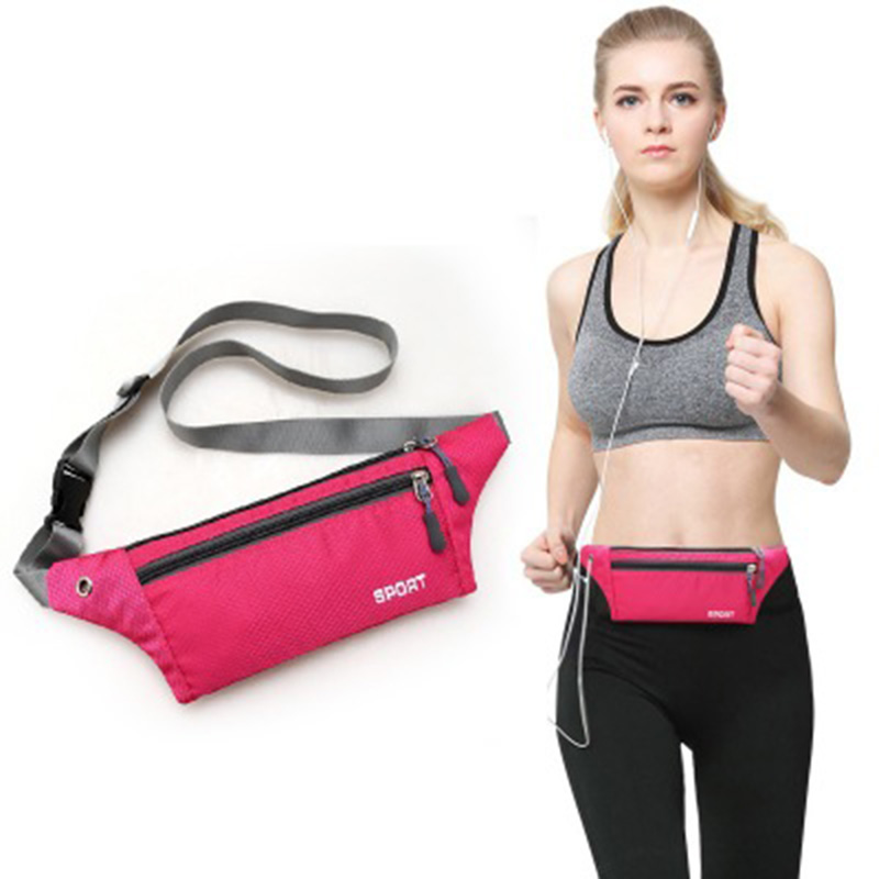 Running Sport Gym Bags Outdoor Sprots Hiking Cycling Waist Bag Pouch Portable Fitness Equipment Waterproof Nylon Package Bags 25(China)