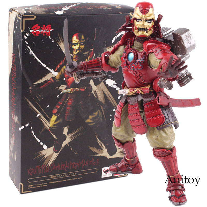 Star Wars Figure Manga Realization Kou Tetsu Samurai Iron Man Mark 3 MK3 PVC Action Figure Collectible Model Toy star wars stormtrooper helmet cosplay mask figure collectible model toy 1 1