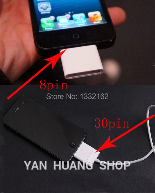 1PCS 30pin To 8pin Adapter Charger And Sync Data For IPhone 4 To For Iphone 5/5S/5C 6 7 8 Plus For 4 Mini 2 Air Ios 7 8 9
