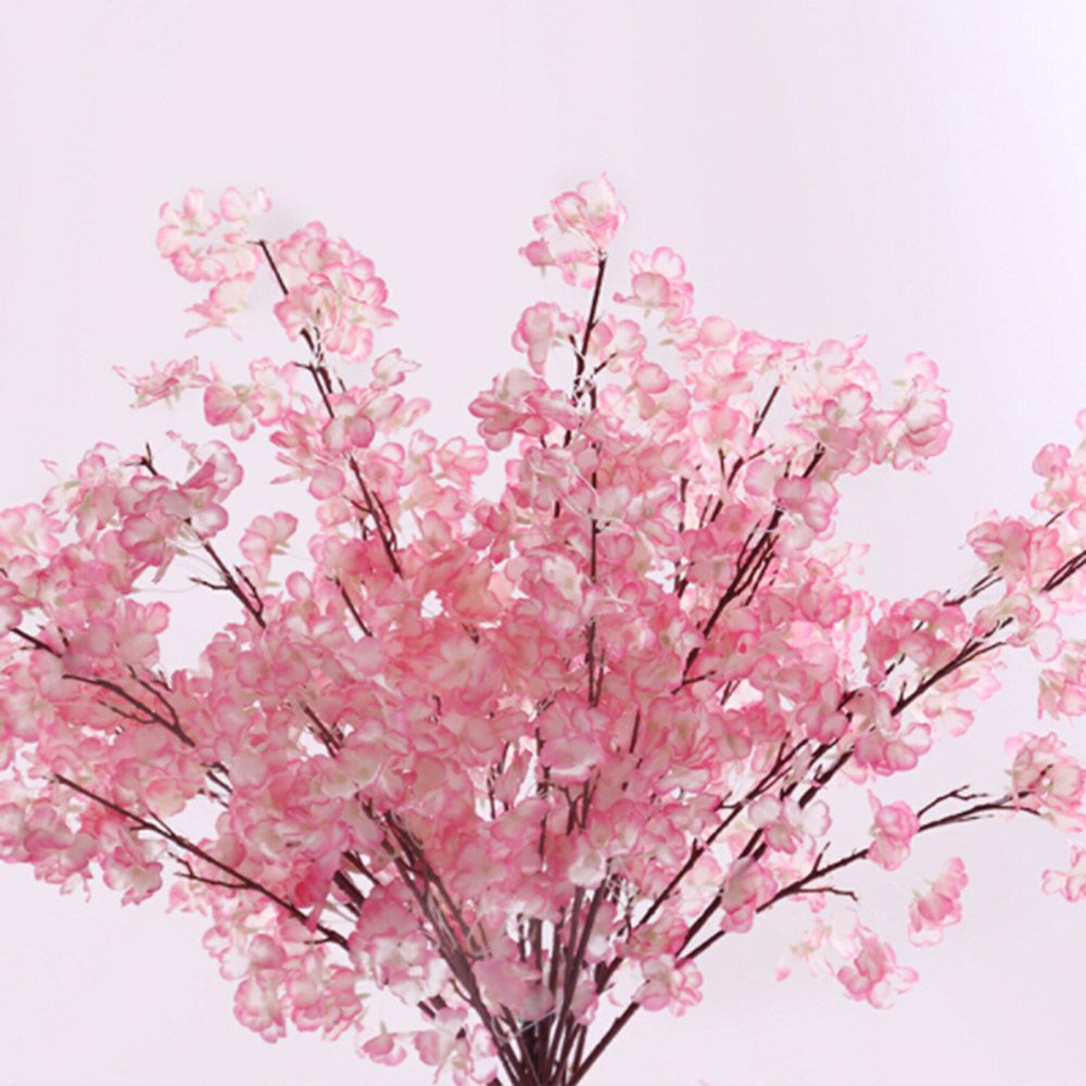 Hot Sale Artificial flowers Cherry Plum flower Artificial plants tree branch Silk flower ...
