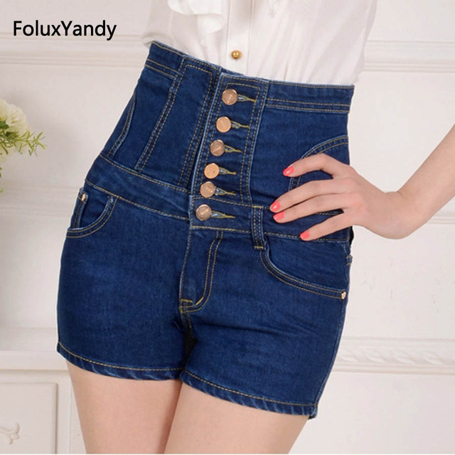 3/4 denim shorts womens