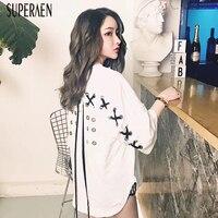 SuperAen 2018 New Summer Harajuku Women S T Shirts Cotton Loose Casual Ladies T Shirt Fashion