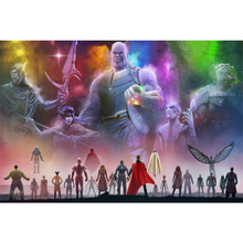 Full Square diy Drill 5D DIY Marvel Avengers diamond painting Cross Stitch round 3D Embroidery Kits mosaic art gift