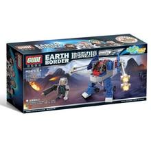 GUDI Earth Border 2 Fantasy Series Science Fiction Building Block Weapon Gun Children Blocks Boy Assembled Toys Gift