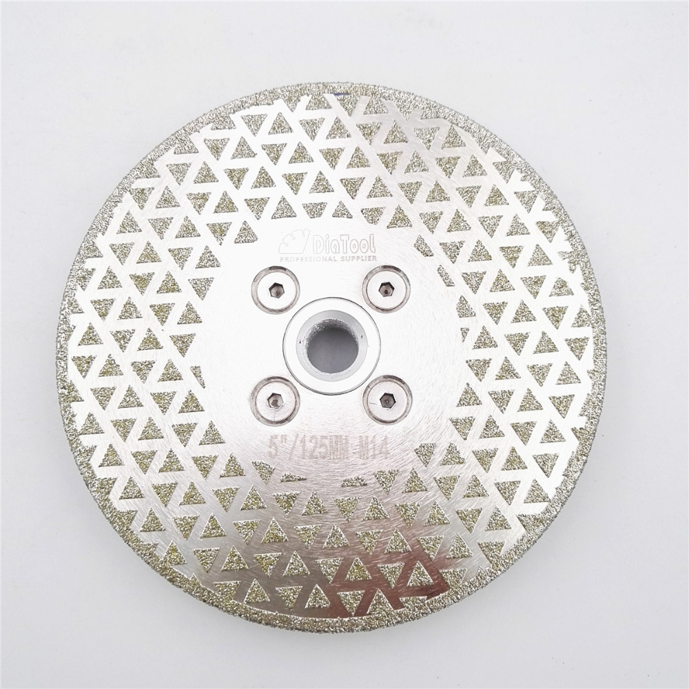 DIATOOL 1pc 125mm Electroplated Diamond Cutting And Grinding Disc With Single Grinding Side For Granite & Marble цена
