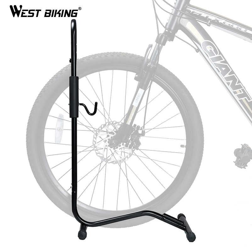 BARAT BERSEPEDA Bicyle Lantai Berdiri Paduan Aluminium 2 IN 1 MTB Sepeda Pemegang Penyimpanan Rak Parkir Instalasi Cepat Sepeda Perbaikan rak