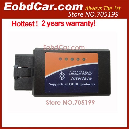 1.5 V Cheaper ELM 327 Bluetooth OBDII CAN-BUS with 2 Years Warranty