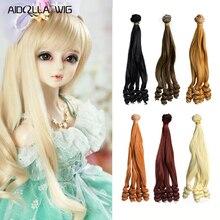 Doll Accessories Dolls Wig Hair Extensions Pure Multicolour 15cm*100CM 1PC Piece for BJD/SD DIY Kids Toys