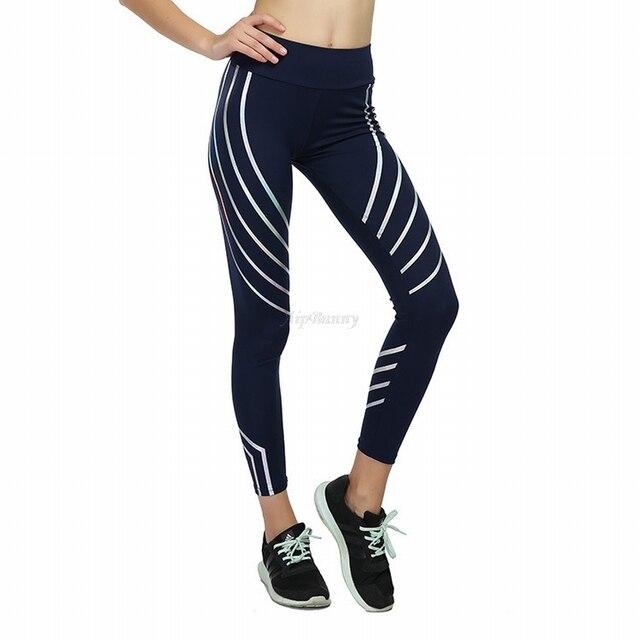 Plus Size XXXL Laser Reflective Legging Women'S Yoga-Pants Big-Girl Sport Fitness Leggings Tranining Running Joggers Sweatpants 5
