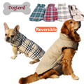 2017 Small to Large Dog Clothes Spring Winter Warm Reversible Dog Jacket Plaid Dog Coats Windproof Pet Dog Clothes Elastic Belly