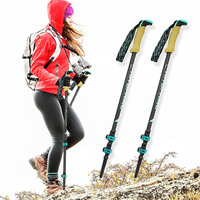 Hitorhike Pair/2pcs Carbon Fiber Trekking Poles Nordic Walking Poles Carbon Trekking Stick Alpenstock Walking Stick For Tourism