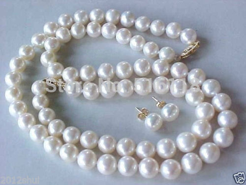 keshi Women Gift word Love real genuine 10-11mm white pearl necklace bracelet earring Sets choker