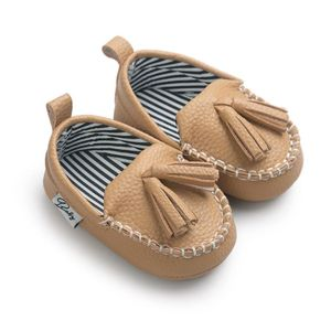 Moccasin First Walkers Newborn Baby Shoes Toddler Prewalker Shoes Baby Boy Girl Pu Tassel pendant Leather Shoes(China)