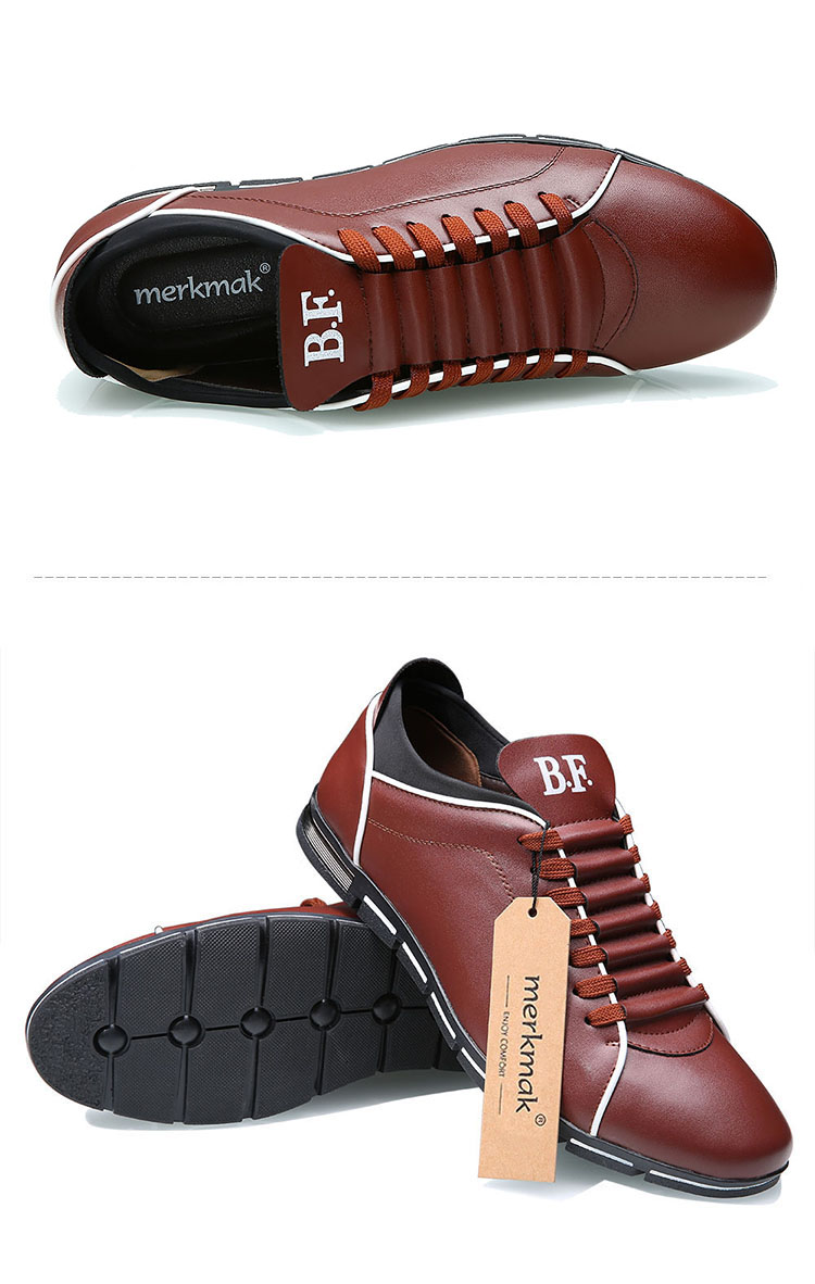 Genuine Leather Fashion Flat Shoes for Men