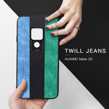 MOFI Original Jeans Canvas Phone Case For Huawei Mate 20 Pro Soft Back Cover Shell Vintage Black Green Blue Silicone Fundas