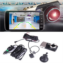 "4.0 ""Inç HD 1080 P 2.0MP Araba Çift Lens Kamera DVR Kaydedici Dash kamera Siyah + Gümüş"