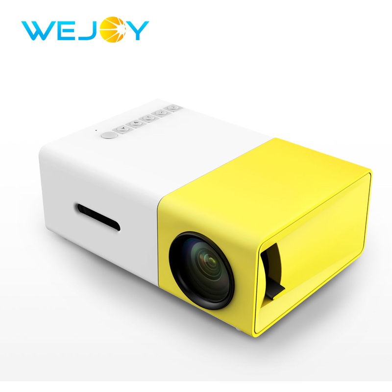 Wejoy LCD Projector JX-300 LED Pocket Projector Mini Video 320x240P LED Projector Media Player For Video Games TV Home Theatre